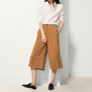 NEW ✨ Massimo Dutti Leather Suede Culottes Large